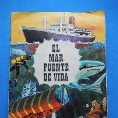 Coleccionismo Álbumes: ÁLBUM. EL MAR FUENTE DE VIDA. INCOMPLETO. FALTA UN CROMO.. Lote 97518235