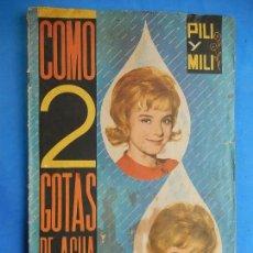 Coleccionismo Álbumes: ÁLBUM. COMO 2 GOTAS DE AGUA. PILI Y MILI. INCOMPLETO.. Lote 97523015