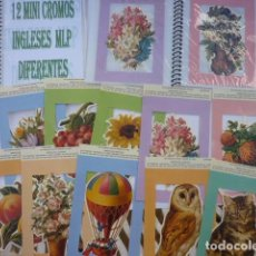 Coleccionismo Álbumes: COLECCIÓN DE 12 LÁMINAS DE MINI CROMOS INGLESES MLP DENTRO DE UN BONITO ALBUM DE REGALO. Lote 97783811
