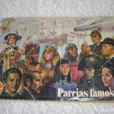 Coleccionismo Álbumes: ALBUM: PAREJAS FAMOSAS ORTIZ - AÑO 1977. Lote 97939459