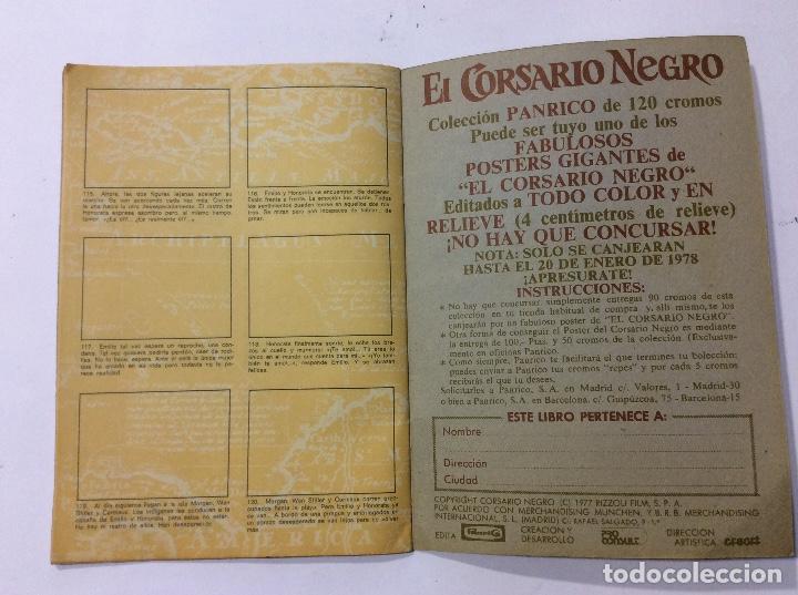 Coleccionismo Álbumes: ÁLBUM EL CORSARIO NEGRO PANRICO VACÍO - Foto 5 - 98919183