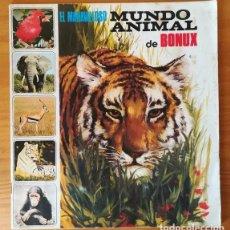 Coleccionismo Álbumes: EL MARAVILLOSO MUNDO ANIMAL DE BONUX. ALBUM DE CROMOS INCOMPLETO FHER 1973.. Lote 99682735