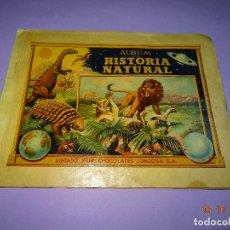 Coleccionismo Álbumes: ANTIGUO ALBUM *HISTORIA NATURAL* EDITADO POR CHOCOLATES JUNCOSA - AÑO 1957. Lote 99690463