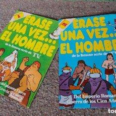 Coleccionismo Álbumes: 2 ALBUMES ERASE UNA VEZ EL HOMBRE - PANRICO - VACIOS - 1978 - MUY BUEN ESTADO. Lote 100964543
