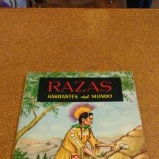 Coleccionismo Álbumes: ALBUM RAZAS HABITANTES DEL MUNDO. EDICIONES FERCA. CON 30 CROMOS. Lote 101275295