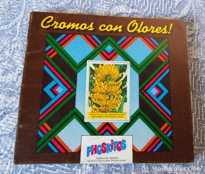 ÁLBUM VACÍO CROMOS DE OLORES - PHOSKITOS - MUY BUEN ESTADO DE CONSERVACIÓN (Coleccionismo - Cromos y Álbumes - Álbumes Incompletos)