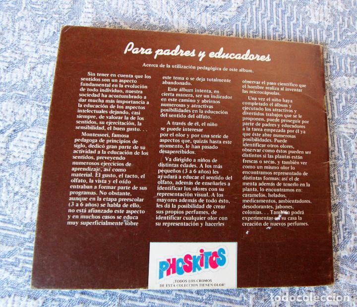 Coleccionismo Álbumes: Álbum vacío Cromos de olores - Phoskitos - Muy buen estado de conservación - Foto 4 - 101743963