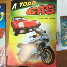 Coleccionismo Álbumes: A TODO GAS VACIO PLANCHA. Lote 102810307