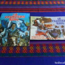 Coleccionismo Álbumes: LA FRONTERA AZUL INCOMPLETO PANRICO Y LA FRONTERA AZUL INCOMPLETO FHER. AÑO 78. RAROS.. Lote 103378591