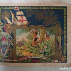 Coleccionismo Álbumes: ALBUM DE CROMOS INCOMPLETO DE HISTORIA DE CRISTOBAL COLON DE CHOCOLATES JUNCOSA. Lote 103473487