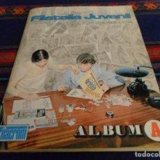 Coleccionismo Álbumes: FILATELIA JUVENIL ÁLBUM A COMPLETO A FALTA DEL CROMO Nº 189. FILACROM 1973. MUY BUEN ESTADO Y RARO.. Lote 105187643
