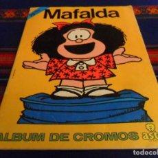 Coleccionismo Álbumes: MAFALDA ÁLBUM DE CROMOS INCOMPLETO FALTAN 33 DE 200 CROMOS. ASTON 1989. BUEN ESTADO.. Lote 105189823