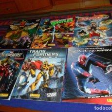 Coleccionismo Álbumes: TRANSFORMERS PRIME AMAZING SPIDER-MAN BEYBLADE METAL MASTERS AVENGERS TEENAGE MUTANT NINJA TURTLES. Lote 105256843