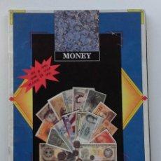 Coleccionismo Álbumes: ALBUM DE CROMOS (270 DE 288), MONEY. EDICIONES AUGE, 1990. STICKLINE, BILLETES DEL MUNDO. Lote 105274291