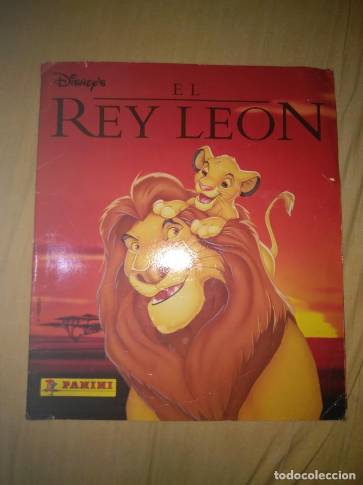 ALBUM CROMOS EL REY LEON CASI COMPLETO FALTAN SOLO 2 CROMOS PANINI DISNEY (Coleccionismo - Cromos y Álbumes - Álbumes Incompletos)