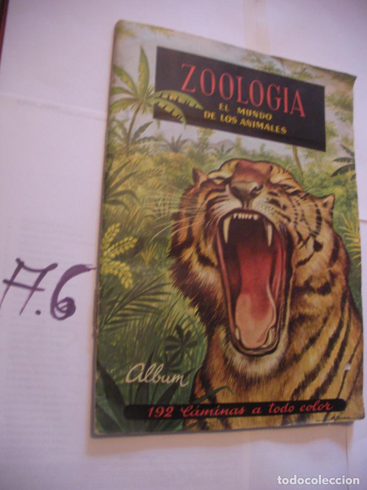 ANTIGUO ALBUM DE CROMOS ZOOLOGIA - EL MUNDO DE LOS ANIMALES (Coleccionismo - Cromos y Álbumes - Álbumes Incompletos)