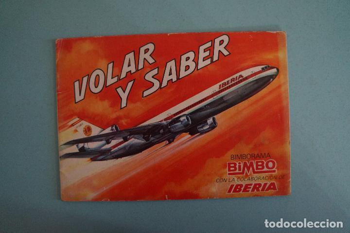ÁLBUM VACIO DE VOLAR Y SABER AÑO 1974 DE BIMBO (Coleccionismo - Cromos y Álbumes - Álbumes Incompletos)