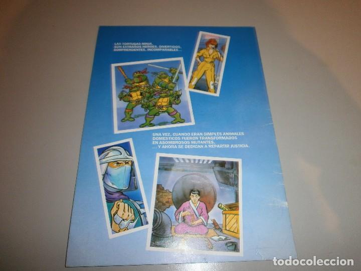 Coleccionismo Álbumes: album tortugas ninja de danone con 4 cromos - Foto 2 - 108386975