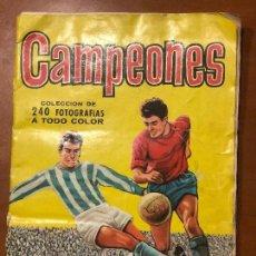 Coleccionismo Álbumes: CAMPEONES 1961 INCOMPLETO FALTAN 8 CROMOS . Lote 108914631