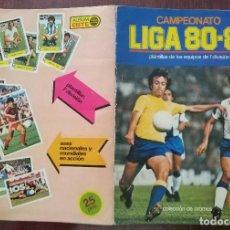 Coleccionismo Álbumes: ALBUM DE CROMOS CAMPEONATO FUTBOL LIGA 80-81 1980-81 (INCOMPLETO) (EDICIONES ESTE 1980). Lote 109292207