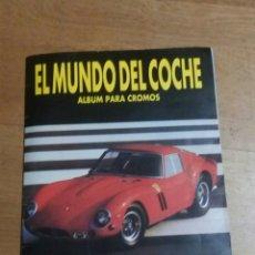 Coleccionismo Álbumes: EL MUNDO DEL COCHE ALBUM PARA CROMOS. Lote 109293992