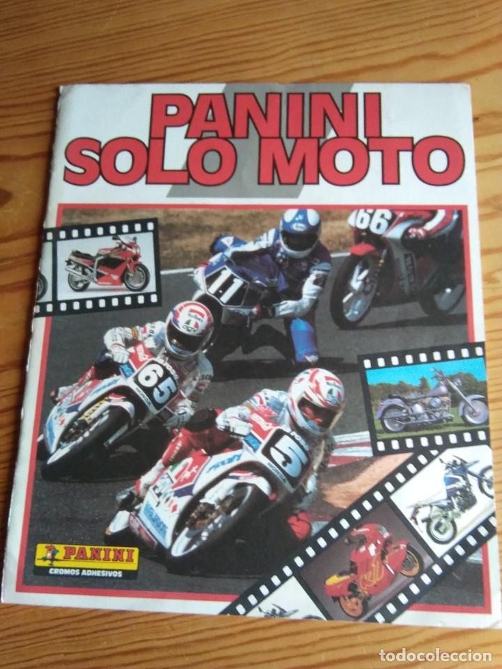 ÁLBUM PANINI SOLO MOTO (Coleccionismo - Cromos y Álbumes - Álbumes Incompletos)