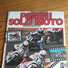 Coleccionismo Álbumes: ÁLBUM PANINI SOLO MOTO. Lote 109360983