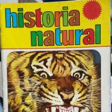 Coleccionismo Álbumes: HISTORIA NATURAL (BRUGUERA, 1967, CON 24 DE 508 CROMOS, ALBUM DE CROMOS). Lote 36825661
