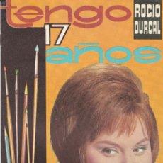 Coleccionismo Álbumes: 9705 -ALBUM DE CROMOS PLANCHA VACIO FHER -TENGO 17 AÑOS- ROCIO DURCAL. Lote 110258511