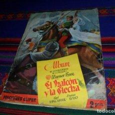 Coleccionismo Álbumes: EL HALCÓN Y LA FLECHA COMPLETO A FALTA DEL CROMO Nº 101. CLIPER 1951. REGALO LOS DIEZ MANDAMIENTOS.. Lote 110368539