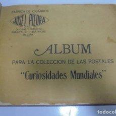 Coleccionismo Álbumes: ALBUM COLECCION DE LAS POSTALES 'CURIOSIDADES MUNDIALES'. CIGARROS JOSE LUIS PIEDRA. AÑOS 30. LEER. Lote 110540935
