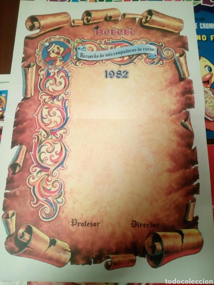 Coleccionismo Álbumes: Petete álbum nuevo con 62 cromos sin pegar+2revistas+pergamino fin de curso - Foto 5 - 110839440