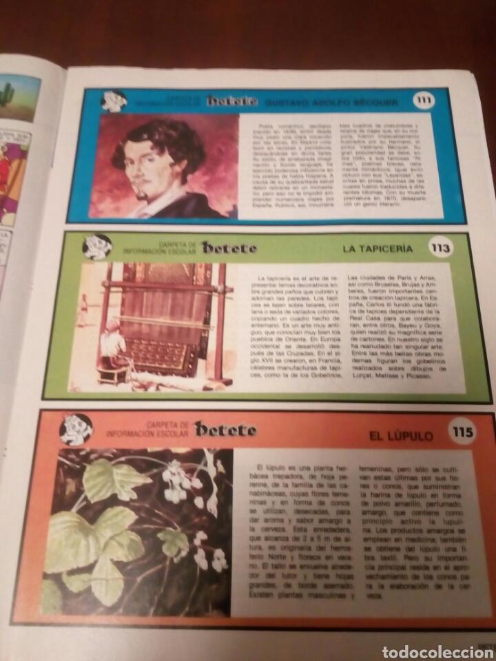 Coleccionismo Álbumes: Petete álbum nuevo con 62 cromos sin pegar+2revistas+pergamino fin de curso - Foto 10 - 110839440