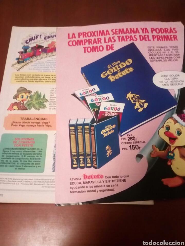 Coleccionismo Álbumes: Petete álbum nuevo con 62 cromos sin pegar+2revistas+pergamino fin de curso - Foto 12 - 110839440