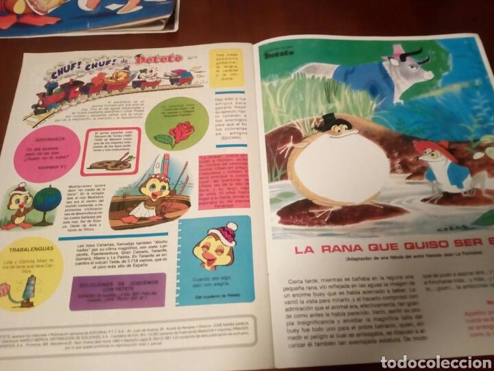 Coleccionismo Álbumes: Petete álbum nuevo con 62 cromos sin pegar+2revistas+pergamino fin de curso - Foto 17 - 110839440
