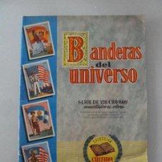 Coleccionismo Álbumes: BANDERAS DEL UNIVERSO ALBUM DE CROMOS BRIGUERA INCOMPLETO SOLO FALTA 1 CROMO PERFECTO ESTADO. Lote 111240259
