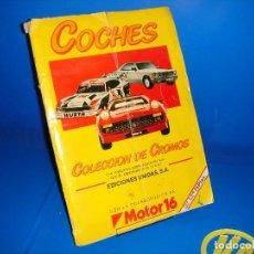 Coleccionismo Álbumes: ALBUM CROMOS COCHES AÑO 1986 COLABORACION MOTOR 16-ALBUM 162 CROMOS FALTANDO 9. Lote 111964751