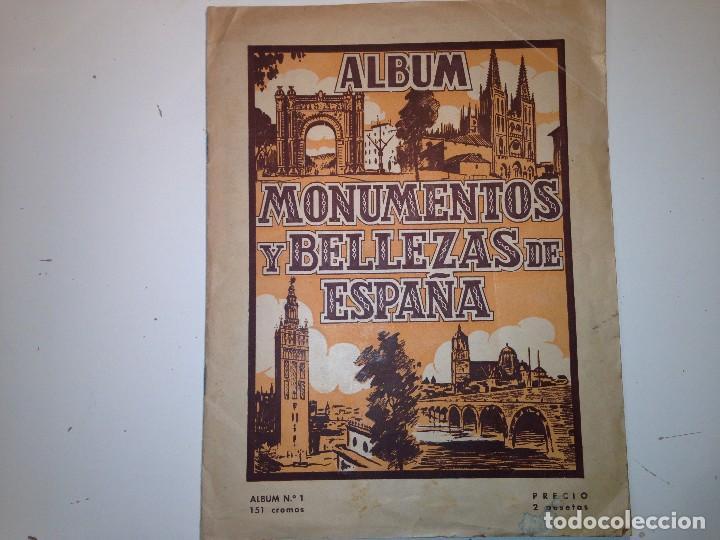 MONUMENTOS Y BELLEZAS DE ESPAÑA (Coleccionismo - Cromos y Álbumes - Álbumes Incompletos)