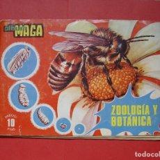 Coleccionismo Álbumes: ÁLBUM CROMOS: ZOOLOGÍA Y BOTÁNICA (MAGA) 1969. ORIGINAL ¡FALTAN 60 CROMOS!. Lote 113020367
