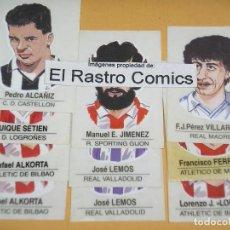 Lote de cromos album Caricaturas de futbolistas famosos, ed. Panrico, ercom