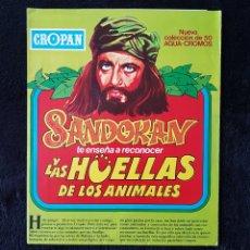 Coleccionismo Álbumes: ALBUM SANDOKAN.LAS HUELLAS DE LOS ANIMALES.CROPAN. Lote 113171671