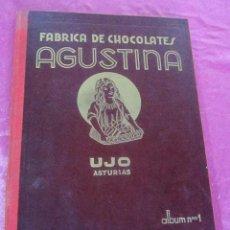 Coleccionismo Álbumes: ALBUM DE CROMOS CHOCOLATES LA AGUSTINA. UJO ASTURIAS COMPLETO.. Lote 113509631