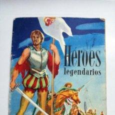 Coleccionismo Álbumes: HÉROES LEGENDARIOS VACÍO. CHOCOLATES HUESO 1966. Lote 113603455