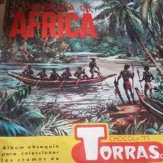 Coleccionismo Álbumes: COSMOGRAMA DE AFRICA .CHOCOLATES TORRES. Lote 114349979