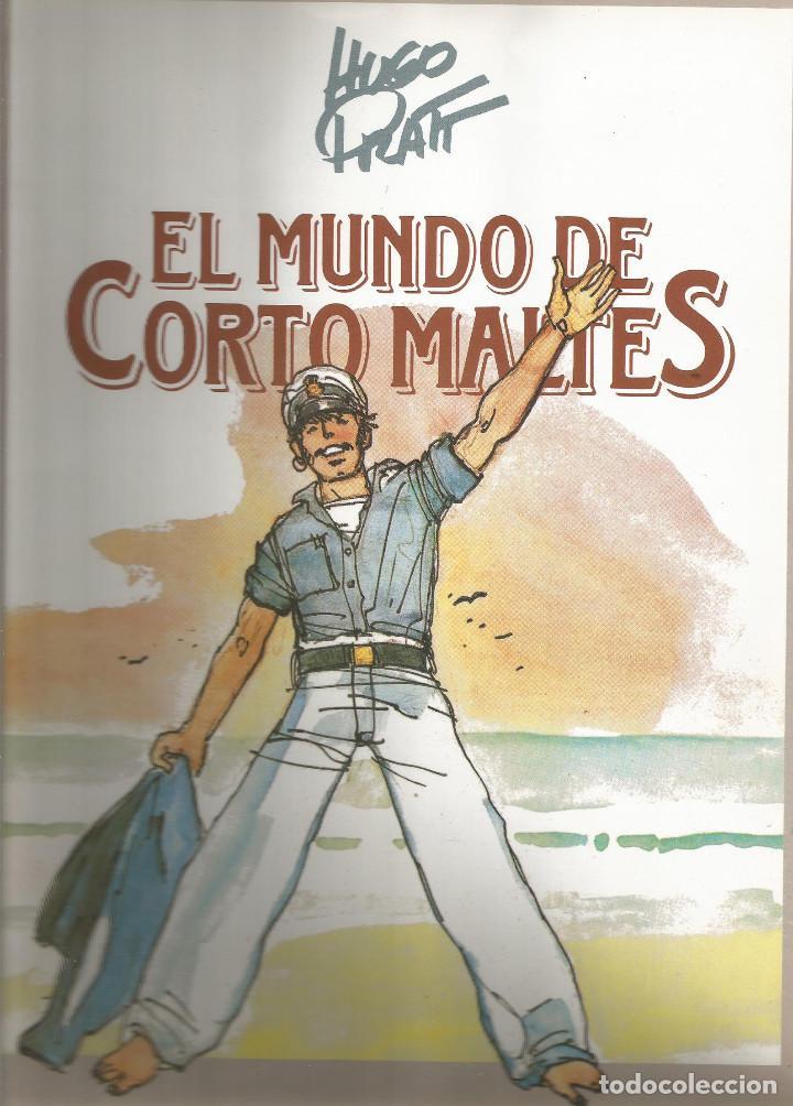 EL MUNDO DE CORTO MALTÉS ÁLBUM CROMOS INCOMPLETO. (Coleccionismo - Cromos y Álbumes - Álbumes Incompletos)