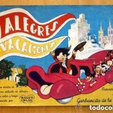 Coleccionismo Álbumes: ALBUM ALEGRES VACACIONES - RUIZ ROMERO 1949 - NUEVO Y VACIO. Lote 114963263