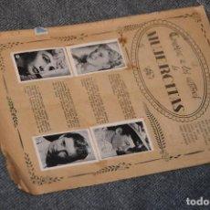 Coleccionismo Álbumes: VINTAGE - ALBUM - CONOZCA A LOS ACTORES DE MUJERCITAS - CLIPER - AÑOS 50 - SOLO FANTAN 9 - HAZ OFER. Lote 193993537