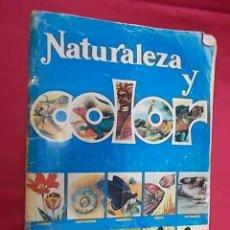 Coleccionismo Álbumes: ALBUM DE CROMOS INCOMPLETO. NATURALEZA Y COLOR. FALTAN 5 CROMOS. Lote 116135627