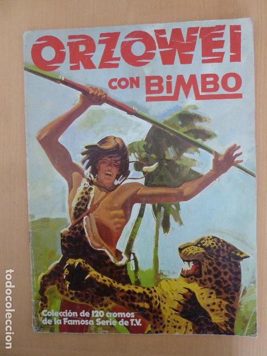 ORZOWEI ALBUM DE CROMOS INCOMPLETO BIMBO (Coleccionismo - Cromos y Álbumes - Álbumes Incompletos)