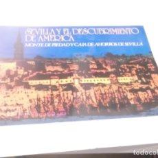 Coleccionismo Álbumes: ALBUM SEVILLA Y EL DESCUBRIMIENTO DE AMERICA. MONTE DE PIEDAD SEVILLA 1988 . Lote 116478831